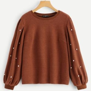 BRAND NEW SHEIN Solid Ribbed Knit Pullover